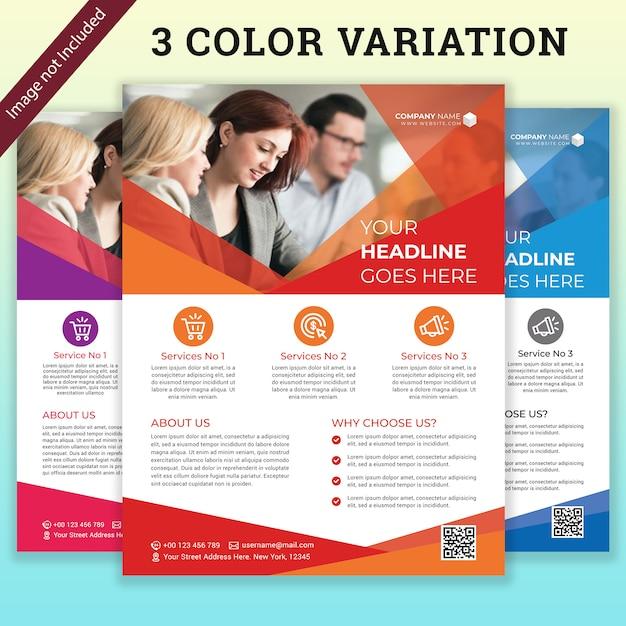 Бизнес коммерческая брошюра Premium Psd