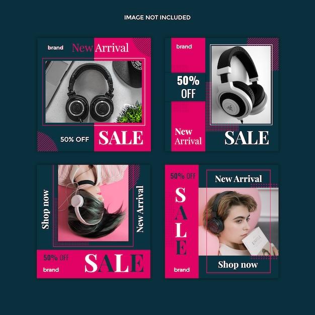 Продажа шаблонов постов в социальных сетях Premium Psd