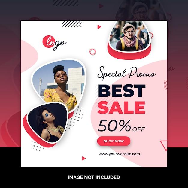 Модный пост в социальных сетях Premium Psd