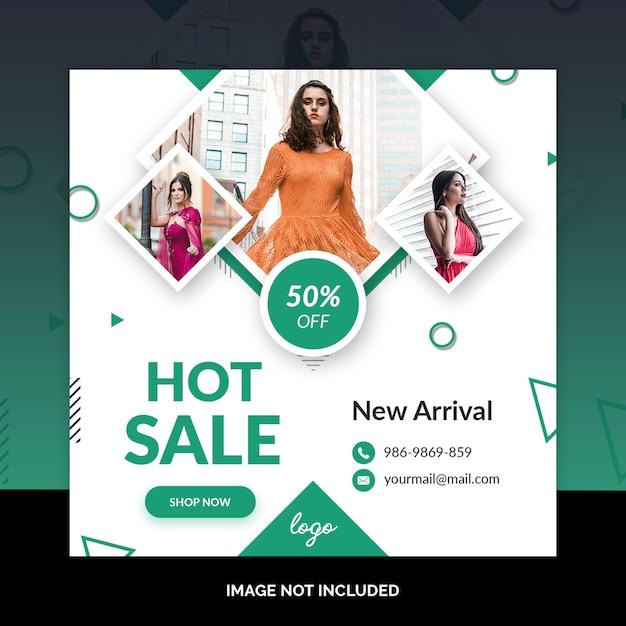 最小限のファッションソーシャルメディアのポストデザイン Premium Psd