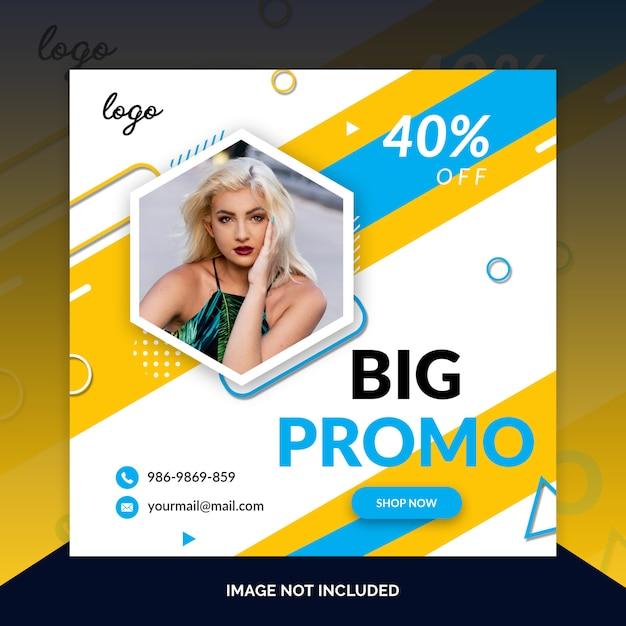 Предложить продажу шаблон сайта в социальных сетях Premium Psd