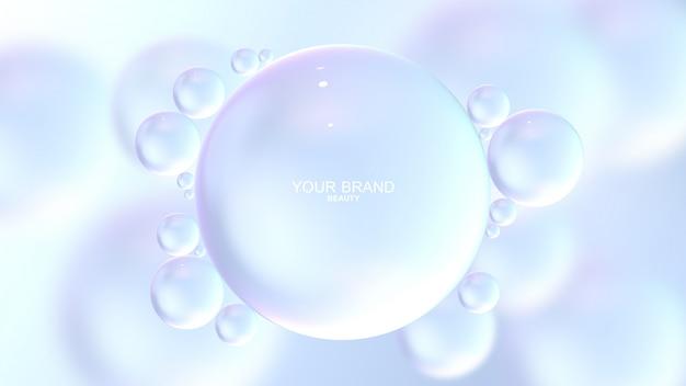 Реалистичные водяные пузыри Premium Psd