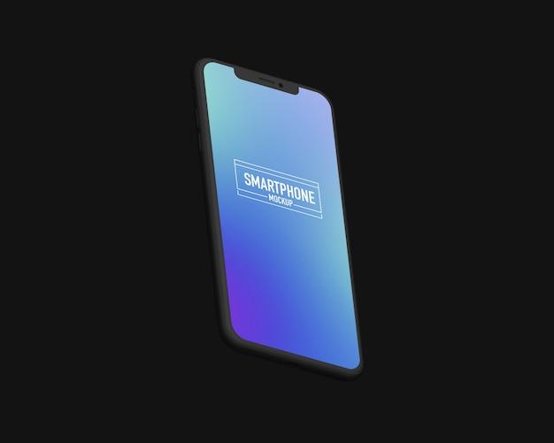 現実的なスマートフォンのモックアップ。きれいなスマートフォンのモックアップ Premium Psd