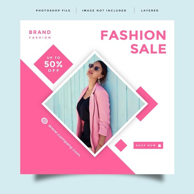 ファッションソーシャルメディアフィードポストプロモーションデザイン Premium Psd