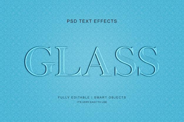 ガラスのテキスト効果 Premium Psd