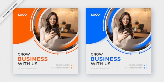 Бизнес социальные медиа пост или баннер шаблон Premium Psd