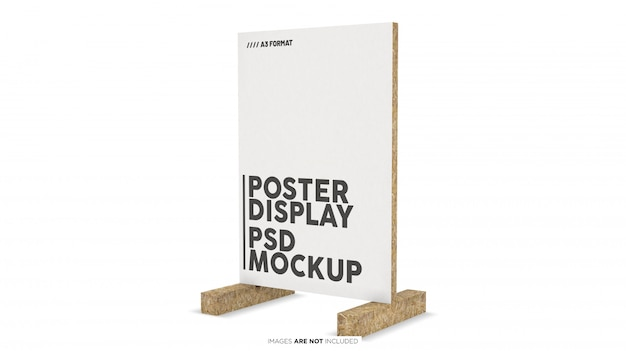 A3 format vertical poster display psd mockup Premium Psd