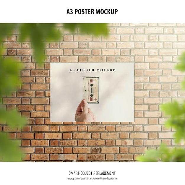 A3 poster mockup Free Psd