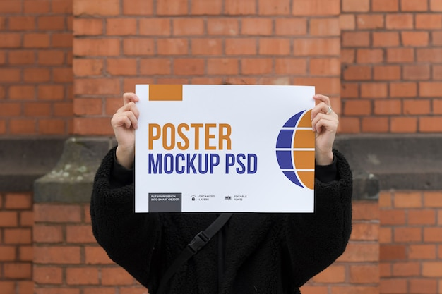 A3 size modern poster mockup Premium Psd