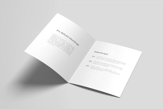 Открыт двойной макет брошюры a4 / a5 Premium Psd