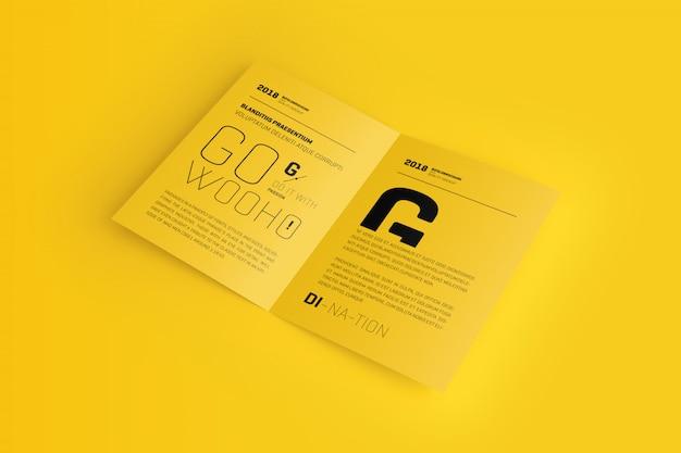 A4 / a5 bifold brochure mockup Premium Psd