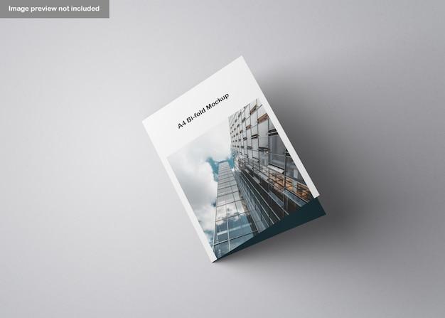 A4二つ折りパンフレットモックアップ Premium Psd