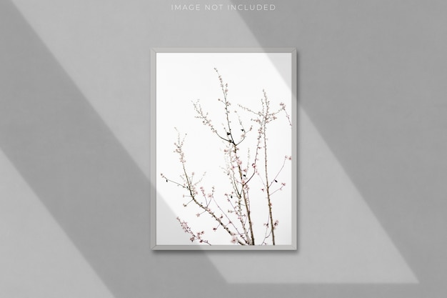 A4 blank picture frame for photographs with shadow overlay Premium Psd