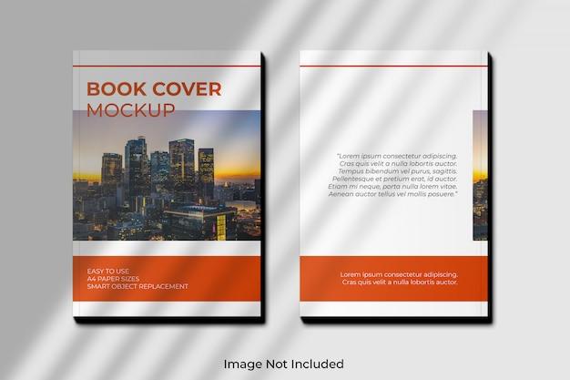 影付きa4ブックカバーモックアップ Premium Psd