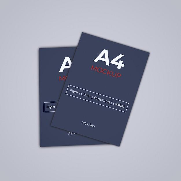 A4 brochure cover mockup psd Premium Psd