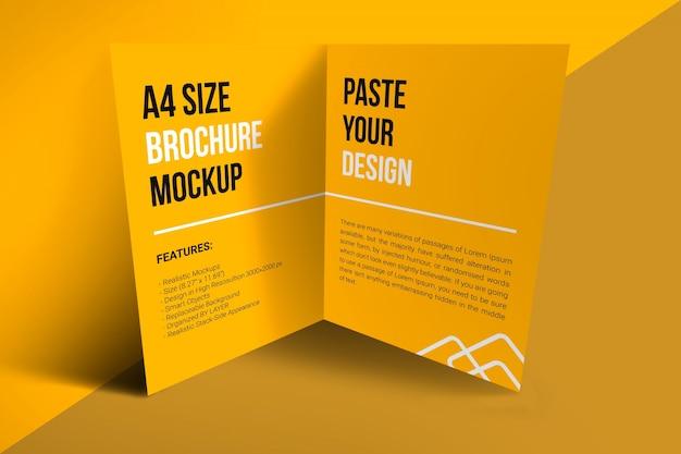 A4パンフレットモックアップ Premium Psd
