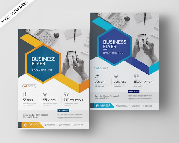 A4 business flyer template Premium Psd