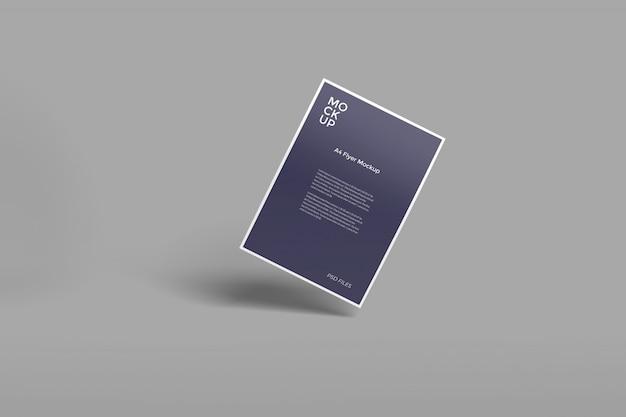 A4 флаер реалистичный макет Premium Psd