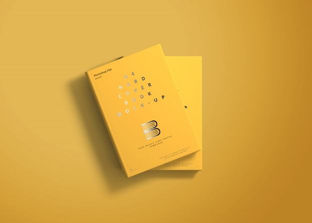 A4 hard cover book mockup Premium Psd