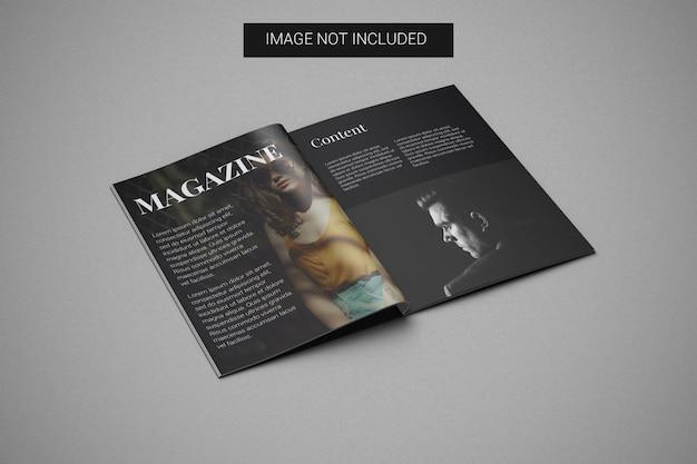 A4 잡지 모형 왼쪽 모습 프리미엄 PSD 파일