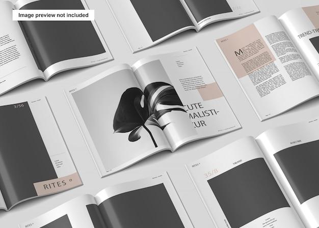 A4 magazine pattern mockup Premium Psd