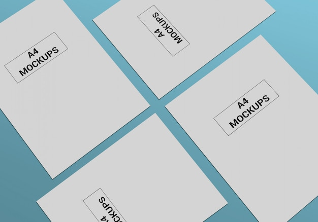 A4 page mock-up Premium Psd