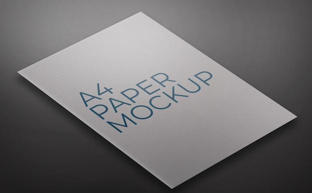 Шаблон макета бумаги формата а4 Premium Psd
