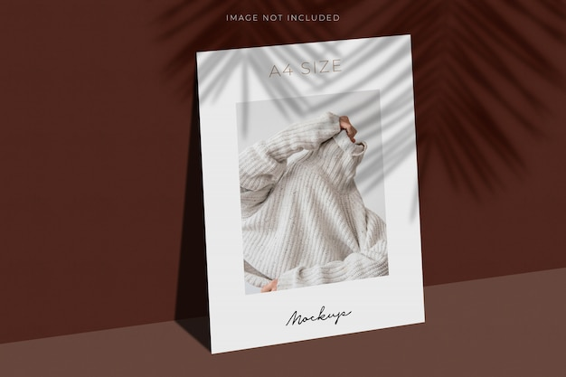 A4 paper mockup with shadow overlay Premium Psd