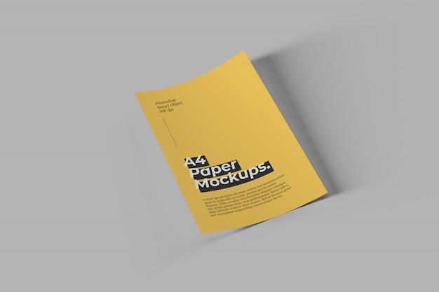 A4用紙モックアップ Premium Psd