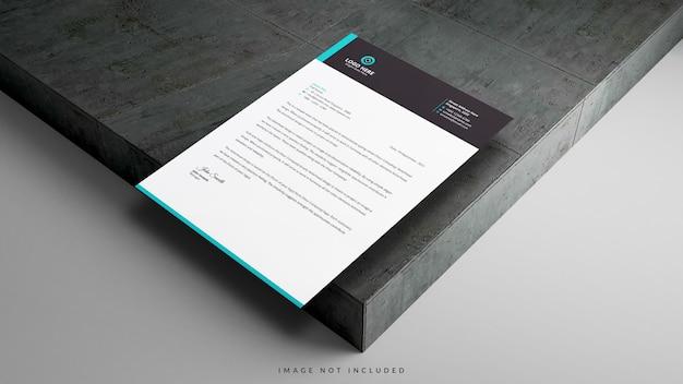 A4紙ポスターレターヘッドチラシポスターモックアップ Premium Psd