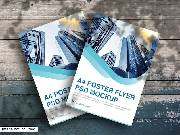 A4 포스터 전단지 Psd 모형 프리미엄 Psd 프리미엄 PSD 파일