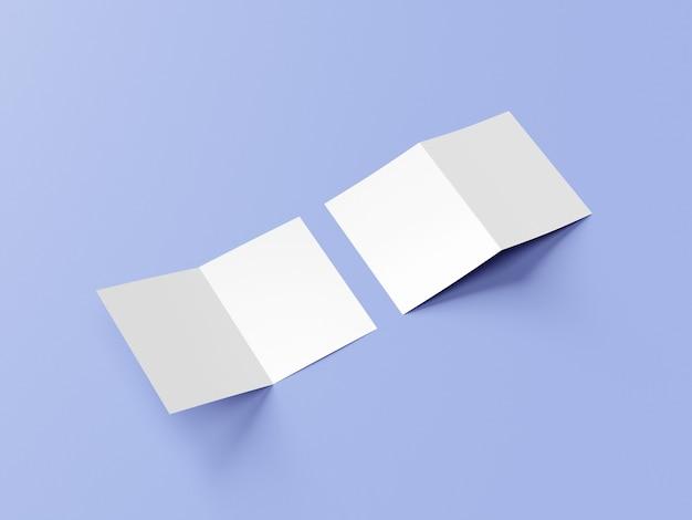 A4プレゼンテーションフォルダまたは2つ折りパンフレットのモックアップ Premium Psd