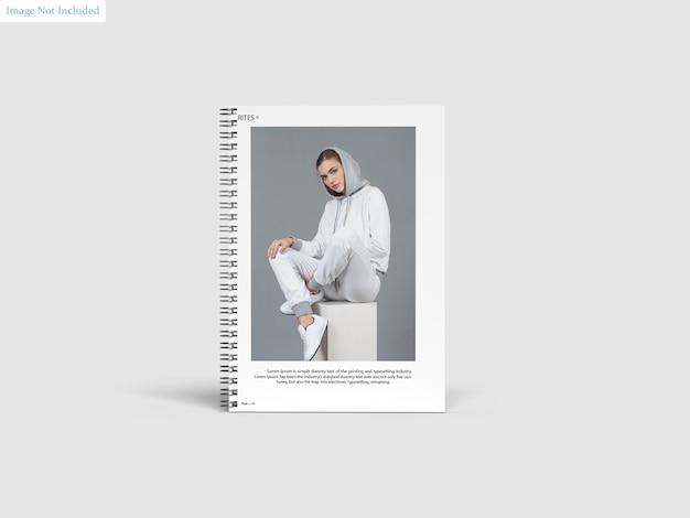 A4 spiral notebook mockup Premium Psd