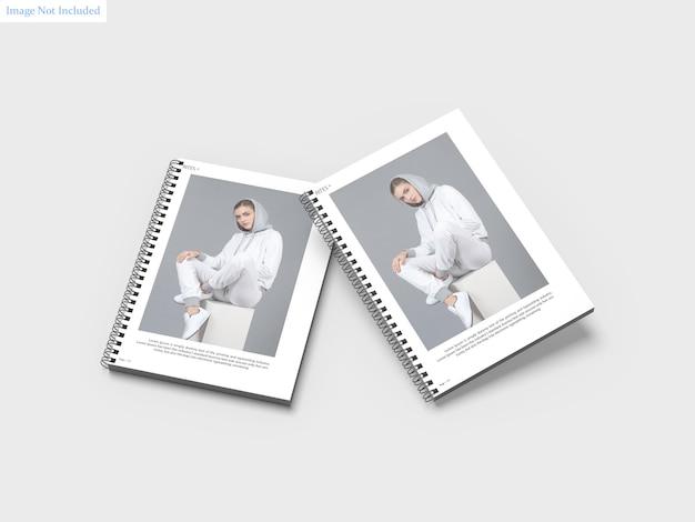 A4 spiral notebooks mockup Premium Psd