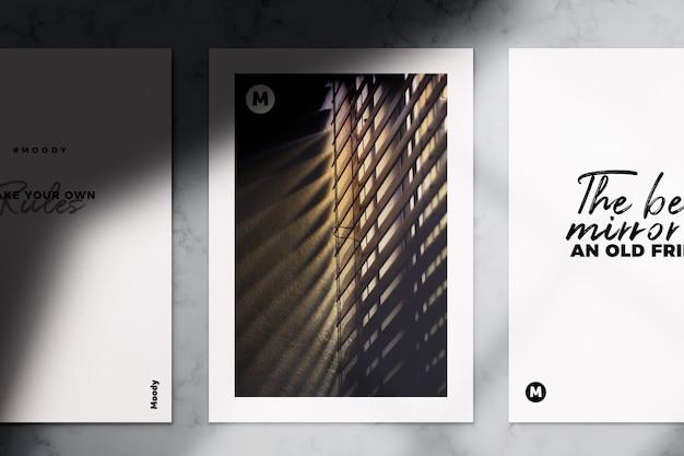 リアルなa4チラシとパンフレットのモックアップ Premium Psd
