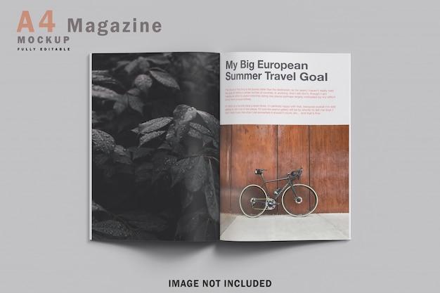 現実的なa4雑誌のモックアップ Premium Psd