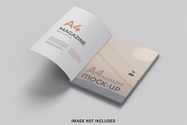 A4雑誌のモックアップを開設 Premium Psd