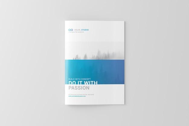 A4パンフレット/カタログモックアップ Premium Psd