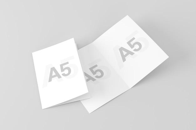Двойной макет брошюры a5 / a5 Premium Psd