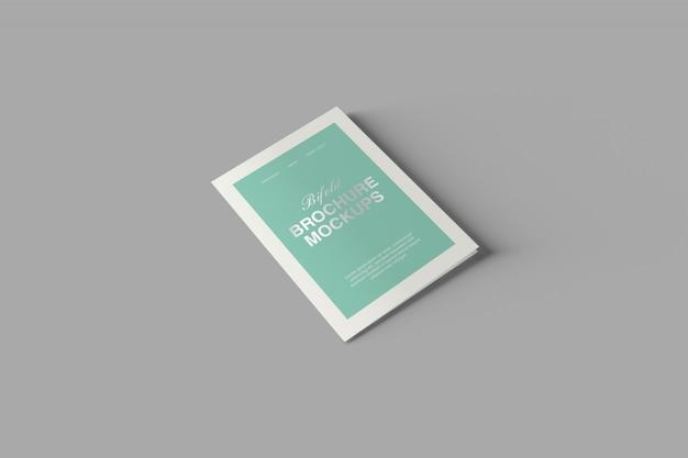 A5二つ折りパンフレットモックアップ Premium Psd