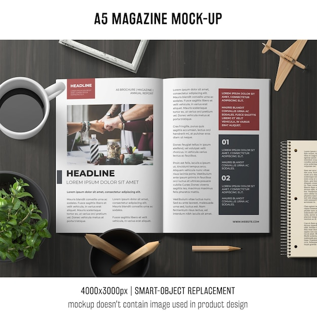 a5 brochure mockup psd file free download