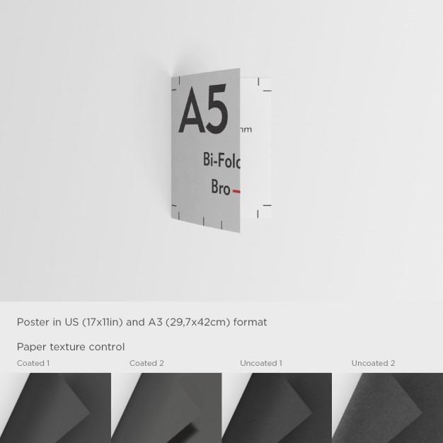 A5 brochure template PSD file | Free Download