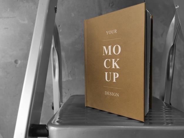 A5 craft cover book mockup Premium Psd