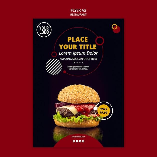 A5 flyer design for restaurant Free Psd