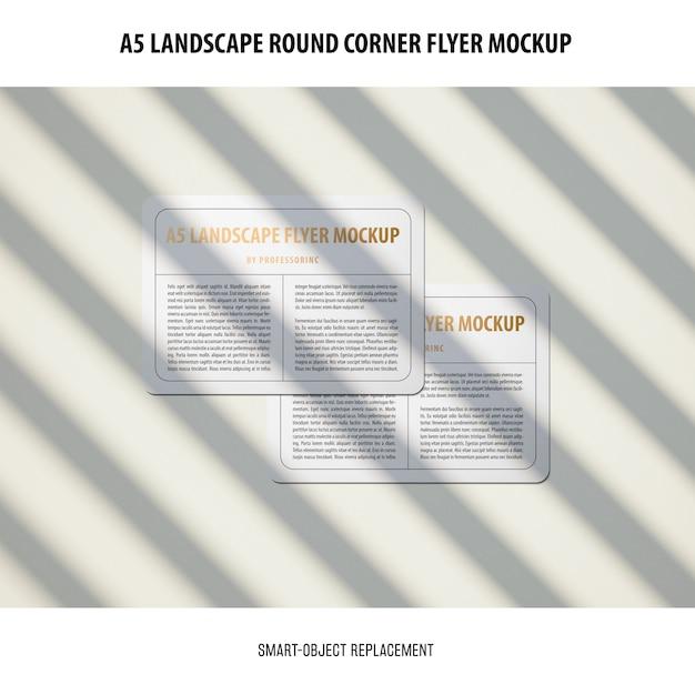 A5 landscape flyer mockup 무료 PSD 파일