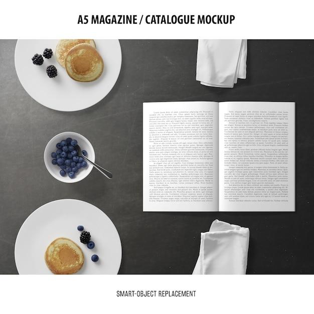 A5 잡지 카탈로그 이랑 무료 PSD 파일