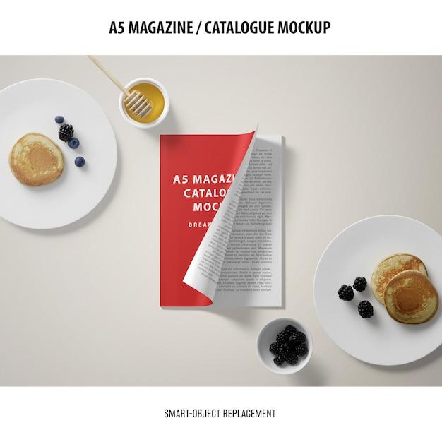 A5 журнал обложка каталог макет Бесплатные Psd