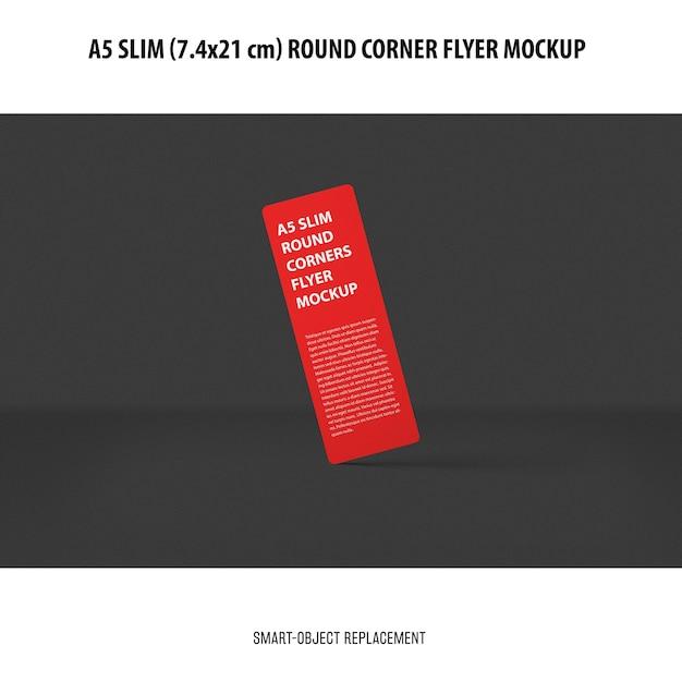 A5 slim flyer mockup Free Psd