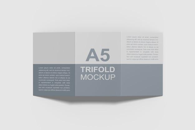 A5 3 단 브로셔 모형 프리미엄 PSD 파일