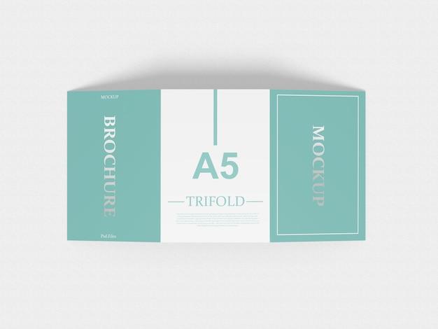 A5 trifold макет Premium Psd